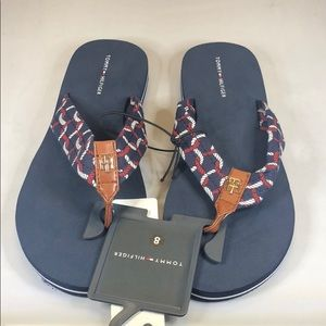 [234] Tommy Hilfiger Flip-Flop Sandals - Dark Blue